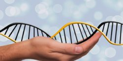 Bild: DNA-Strang in der Hand; Copyright: pixabay