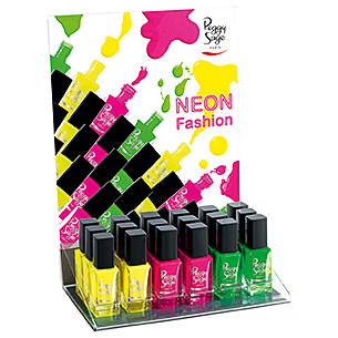 Display mit 18 Nagellacken Kollektion Neon fashion Summer 20