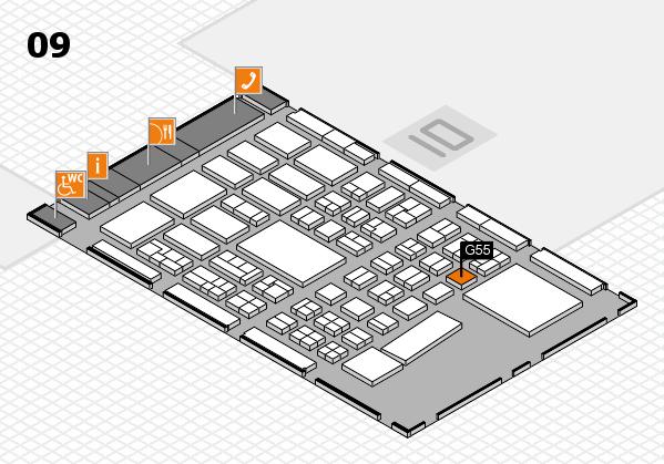 BEAUTY DÜSSELDORF 2017 hall map (Hall 9): stand G55