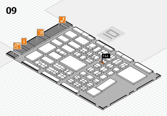 BEAUTY DÜSSELDORF 2017 hall map (Hall 9): stand F44