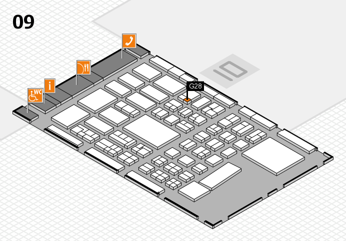 BEAUTY DÜSSELDORF 2017 hall map (Hall 9): stand G28