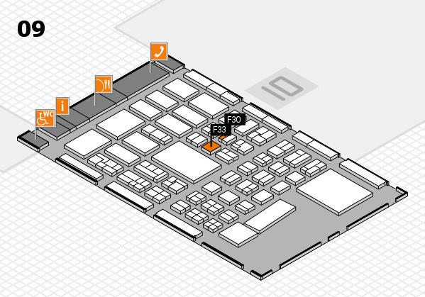BEAUTY DÜSSELDORF 2017 hall map (Hall 9): stand F30, stand F33
