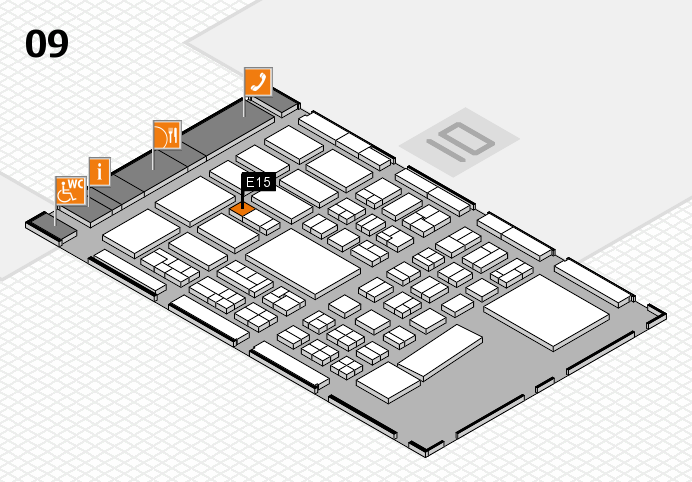 BEAUTY DÜSSELDORF 2017 hall map (Hall 9): stand E15