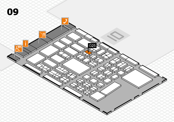 BEAUTY DÜSSELDORF 2017 hall map (Hall 9): stand G25
