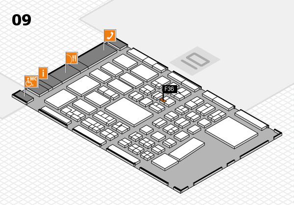 BEAUTY DÜSSELDORF 2017 hall map (Hall 9): stand F36
