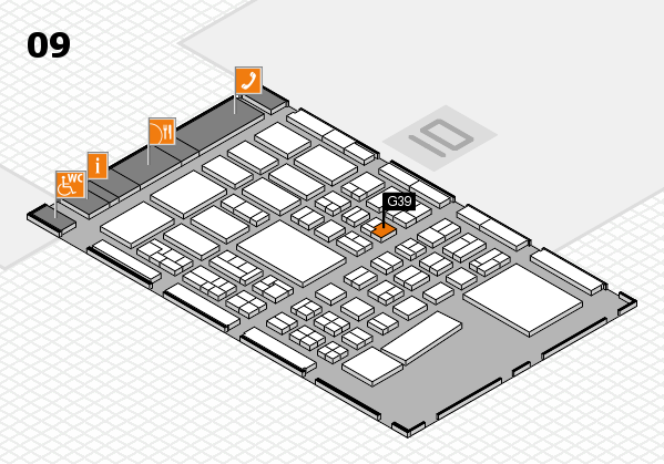 BEAUTY DÜSSELDORF 2017 hall map (Hall 9): stand G39