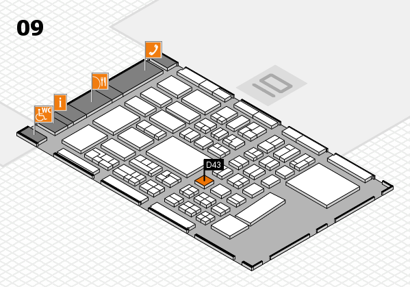BEAUTY DÜSSELDORF 2017 hall map (Hall 9): stand D43