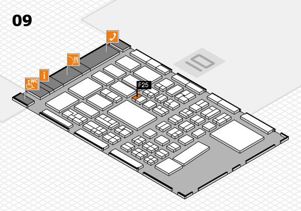 BEAUTY DÜSSELDORF 2017 hall map (Hall 9): stand F25