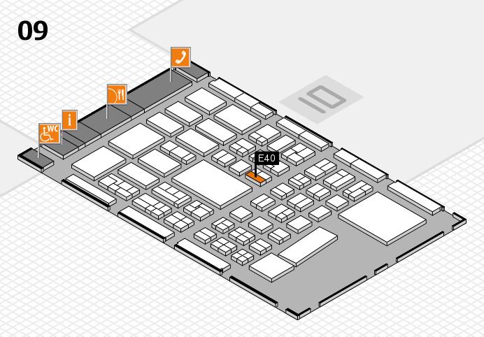BEAUTY DÜSSELDORF 2017 hall map (Hall 9): stand E40