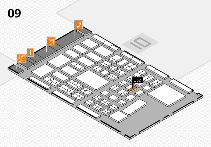 BEAUTY DÜSSELDORF 2017 hall map (Hall 9): stand E52