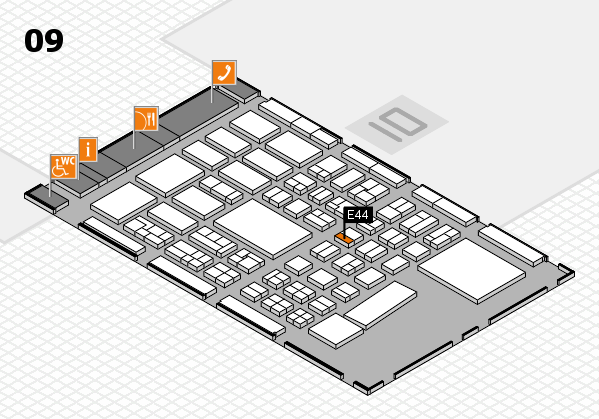 BEAUTY DÜSSELDORF 2017 hall map (Hall 9): stand E44