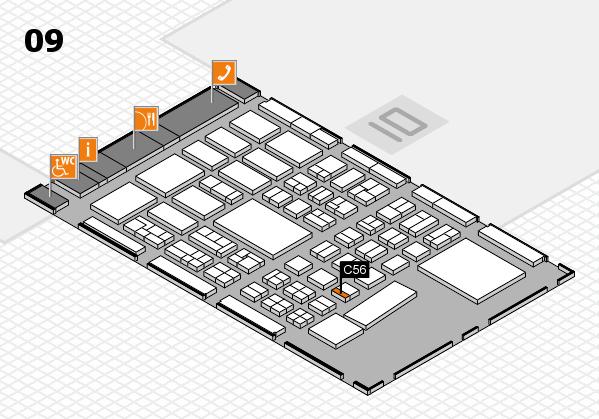 BEAUTY DÜSSELDORF 2017 hall map (Hall 9): stand C56