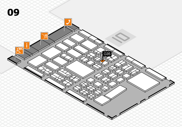 BEAUTY DÜSSELDORF 2017 hall map (Hall 9): stand G35