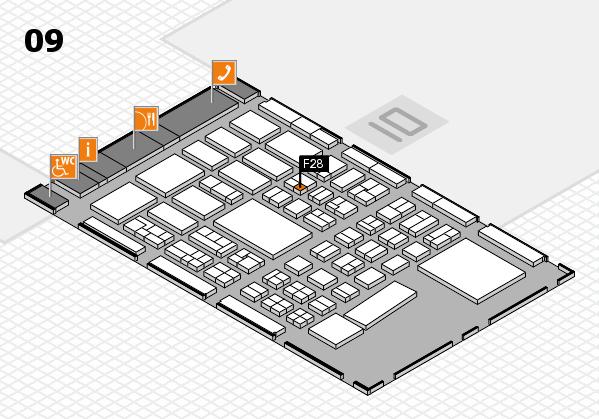 BEAUTY DÜSSELDORF 2017 hall map (Hall 9): stand F28
