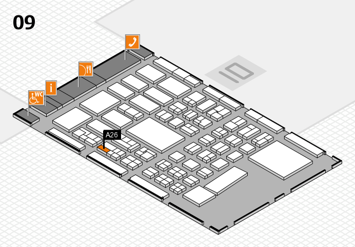 BEAUTY DÜSSELDORF 2017 hall map (Hall 9): stand A26