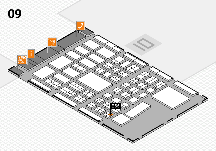BEAUTY DÜSSELDORF 2017 hall map (Hall 9): stand B55