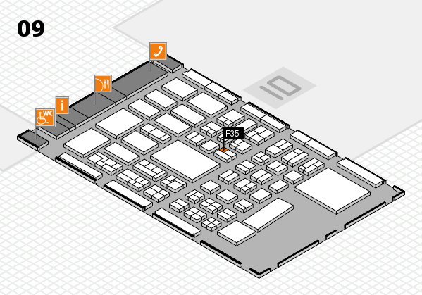 BEAUTY DÜSSELDORF 2017 hall map (Hall 9): stand F35