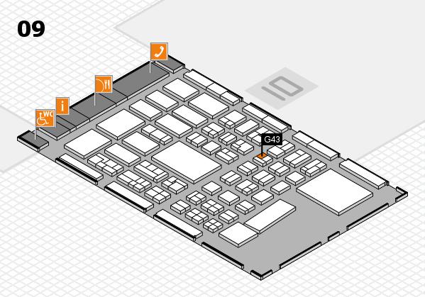 BEAUTY DÜSSELDORF 2017 hall map (Hall 9): stand G43