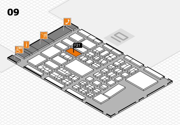 BEAUTY DÜSSELDORF 2017 hall map (Hall 9): stand F21