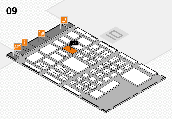 BEAUTY DÜSSELDORF 2017 hall map (Hall 9): stand F21