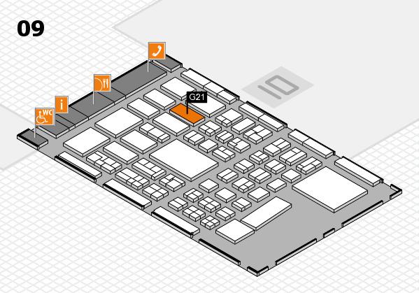 BEAUTY DÜSSELDORF 2017 hall map (Hall 9): stand G21