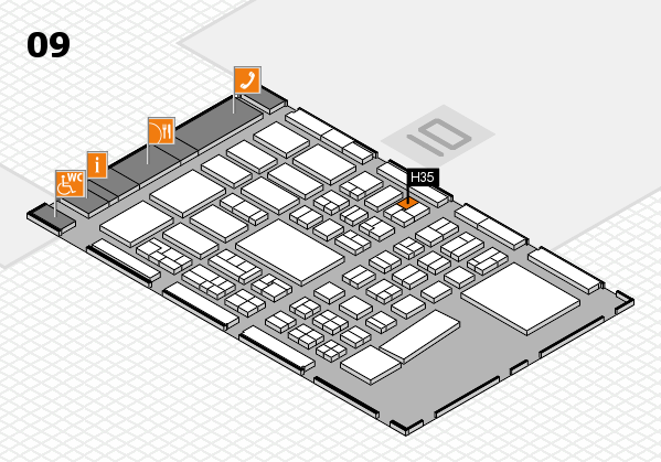 BEAUTY DÜSSELDORF 2017 hall map (Hall 9): stand H35