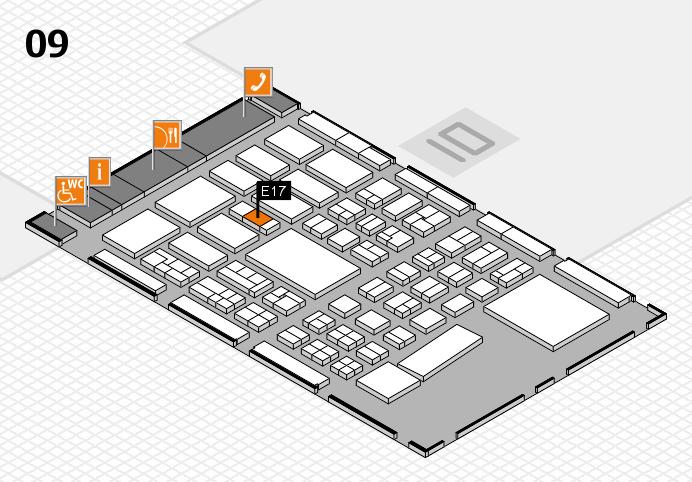 BEAUTY DÜSSELDORF 2017 hall map (Hall 9): stand E17