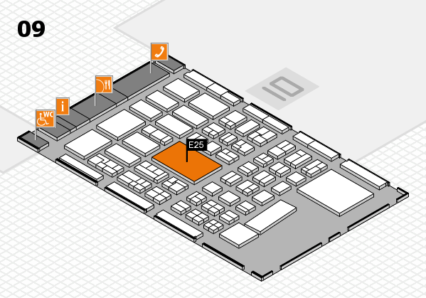 BEAUTY DÜSSELDORF 2017 hall map (Hall 9): stand E25