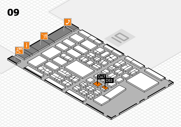 BEAUTY DÜSSELDORF 2017 hall map (Hall 9): stand D47, stand D53