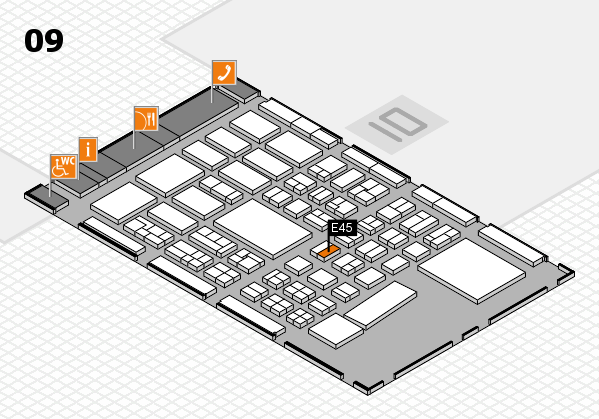 BEAUTY DÜSSELDORF 2017 hall map (Hall 9): stand E45