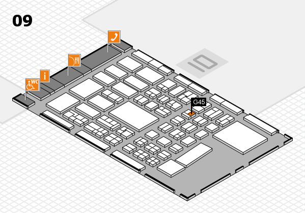 BEAUTY DÜSSELDORF 2017 hall map (Hall 9): stand G45