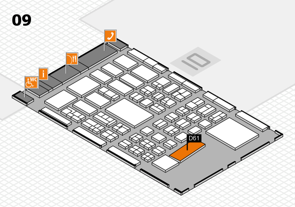 BEAUTY DÜSSELDORF 2017 hall map (Hall 9): stand D61