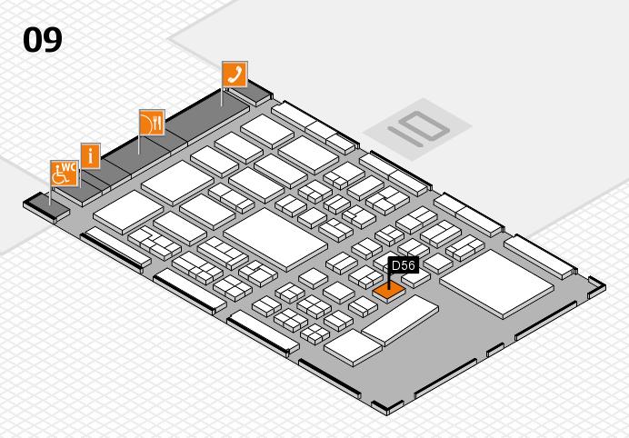 BEAUTY DÜSSELDORF 2017 hall map (Hall 9): stand D56-3