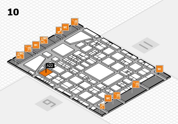 BEAUTY DÜSSELDORF 2017 hall map (Hall 10): stand A22