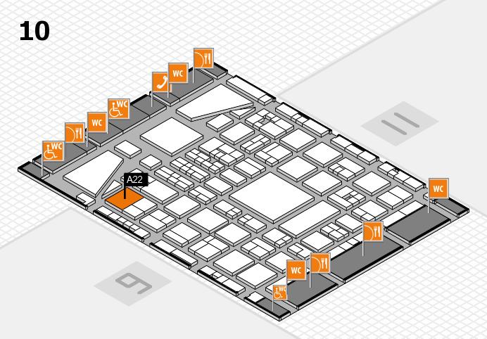 BEAUTY DÜSSELDORF 2017 Hallenplan (Halle 10): Stand A22