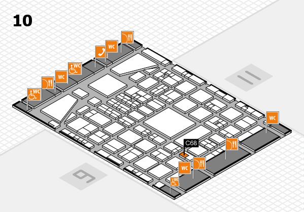 BEAUTY DÜSSELDORF 2017 hall map (Hall 10): stand C68