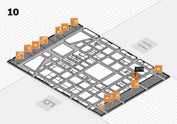BEAUTY DÜSSELDORF 2017 hall map (Hall 10): stand G75