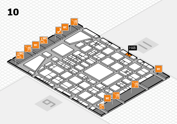 BEAUTY DÜSSELDORF 2017 hall map (Hall 10): stand H48