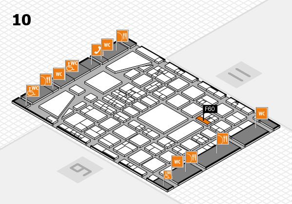 BEAUTY DÜSSELDORF 2017 hall map (Hall 10): stand F60