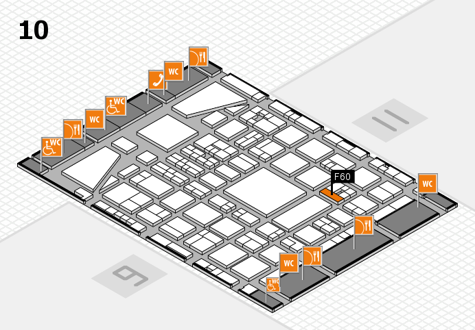 BEAUTY DÜSSELDORF 2017 Hallenplan (Halle 10): Stand F60