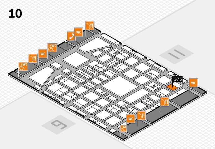BEAUTY DÜSSELDORF 2017 hall map (Hall 10): stand G76
