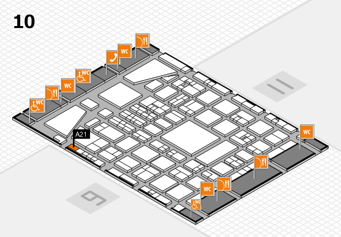 BEAUTY DÜSSELDORF 2017 Hallenplan (Halle 10): Stand A21
