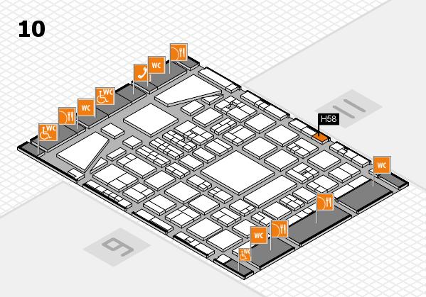 BEAUTY DÜSSELDORF 2017 hall map (Hall 10): stand H58