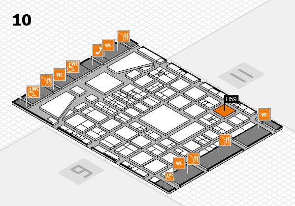BEAUTY DÜSSELDORF 2017 hall map (Hall 10): stand H59