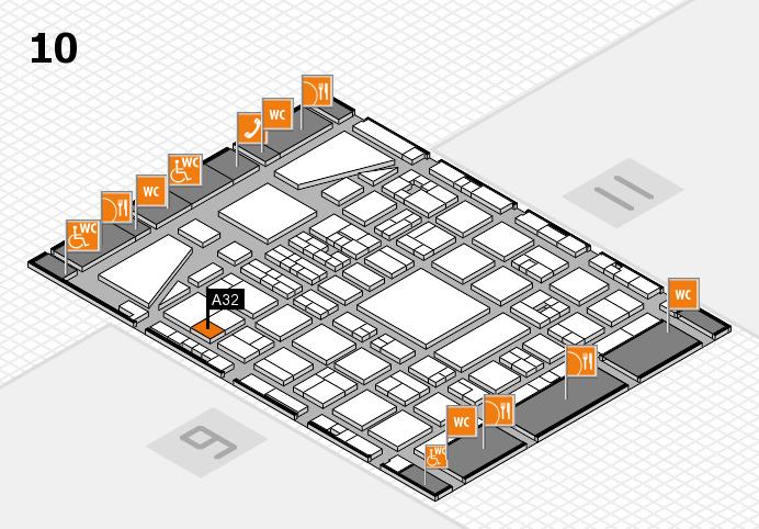 BEAUTY DÜSSELDORF 2017 hall map (Hall 10): stand A32