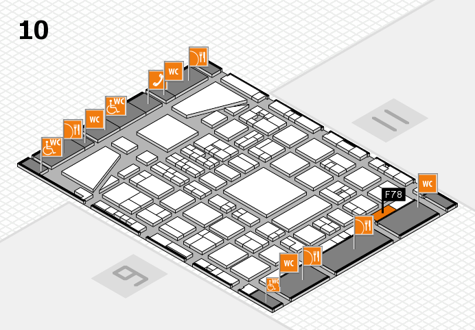BEAUTY DÜSSELDORF 2017 hall map (Hall 10): stand F78
