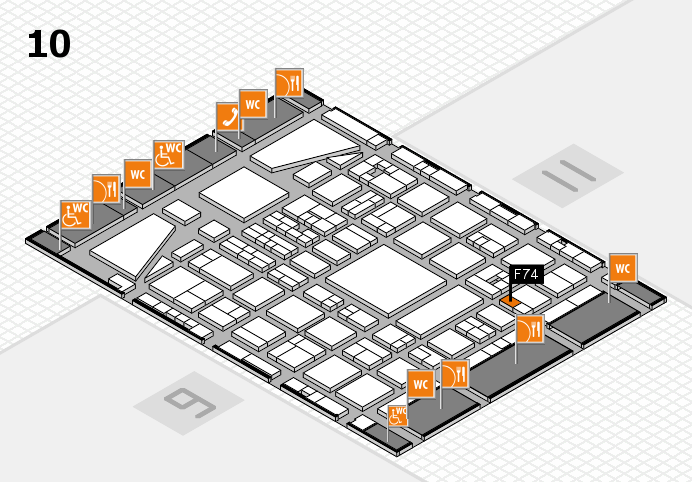 BEAUTY DÜSSELDORF 2017 hall map (Hall 10): stand F74