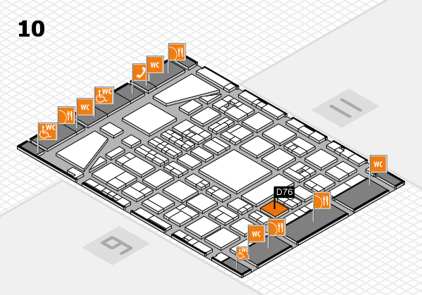 BEAUTY DÜSSELDORF 2017 hall map (Hall 10): stand D76
