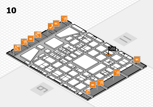 BEAUTY DÜSSELDORF 2017 hall map (Hall 10): stand G58