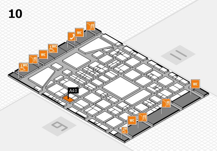 BEAUTY DÜSSELDORF 2017 Hallenplan (Halle 10): Stand A40